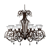 Crystal World 9805P50-10-113 - 10 Light Dark Bronze Candle Chandelier from our Shakira collection