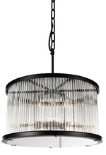 Crystal World 9861P32-12-101 - 12 Light Black Chandelier from our Mira collection