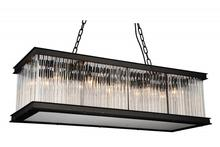 Crystal World 9861P40-10-101 - 10 Light Black Chandelier from our Mira collection