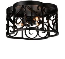 Crystal World 9888C16-3-122 - 3 Light Autumn Bronze Cage Flush Mount from our Branch collection