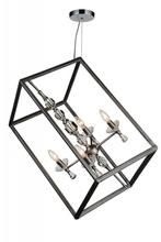 Crystal World 9891P14-4-183 - 4 Light Luxor Silver Up Chandelier from our Tapi collection