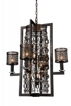 Crystal World 9901P27-8-185 - 8 Light Golden Bronze Up Chandelier from our Pollett collection