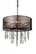 Crystal World 9901P28-8-185 - 8 Light Golden Bronze Up Chandelier from our Pollett collection