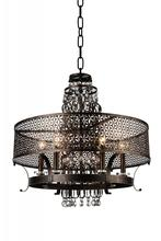 Crystal World 9901P32-8-185 - 8 Light Golden Bronze Up Chandelier from our Pollett collection