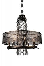 Crystal World 9901P42-8-185 - 8 Light Golden Bronze Up Chandelier from our Pollett collection