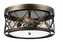 Crystal World 9914C16-3-204 - 3 Light, Light Brown Cage Flush Mount from our Kali collection