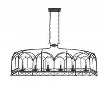 Crystal World 9936P50-6-223 - 6 Light Brownish Black Candle Island / Pool Table Chandelier from our Sequoia collection