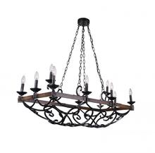 Crystal World 9940P43-12-243 - 12 Light Gun Metal Candle Island / Pool Table Chandelier from our Morden collection