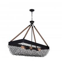 Crystal World 9963P40-6-207 - 6 Light Island Chandelier with Antique Black finish