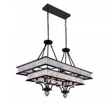 Crystal World 9972P37-16-101 - 16 Light Island Chandelier with Black finish