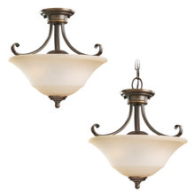 Sea Gull 77380-829 - Two Light Semi-Flush Convertible Pendant