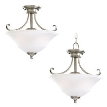 Sea Gull 77380-965 - Two Light Semi-Flush Convertible Pendant