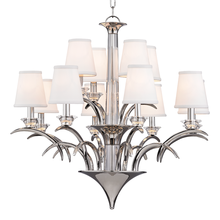 Hudson Valley 3199-PN - 12 Light Chandelier