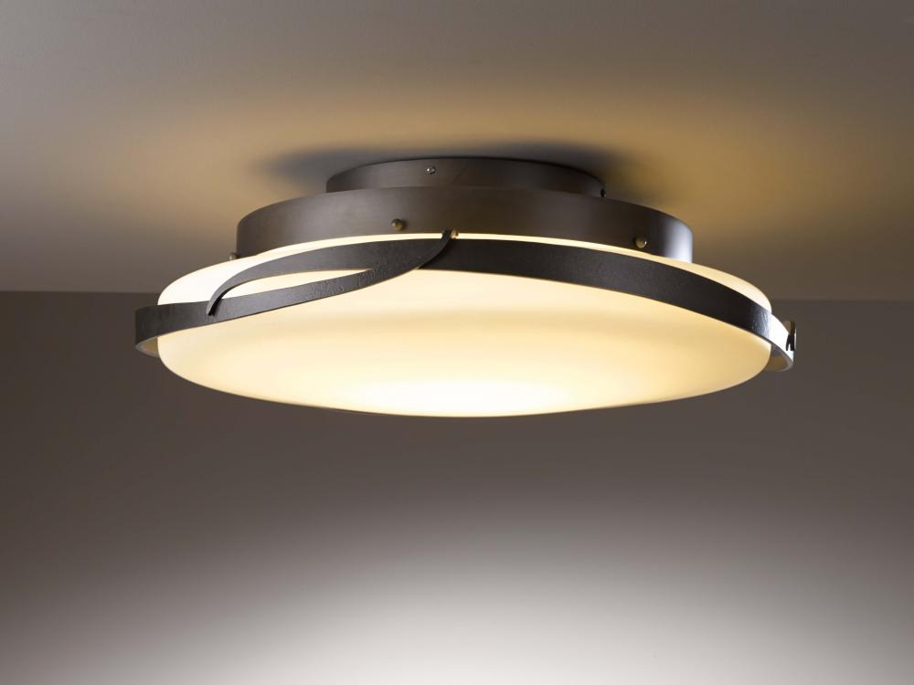 Main Line Lighting & Design in Paoli, Pennsylvania, United States, Hubbardton Forge 126742-LED-05-GG0437, Flora LED Flush Mount,