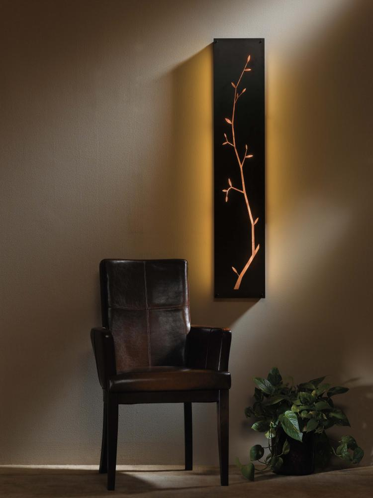 Main Line Lighting & Design in Paoli, Pennsylvania, United States, Hubbardton Forge 217910-FLU-03-ZG0208, Leaf Silhouette Sconce, Leaf Silhouette