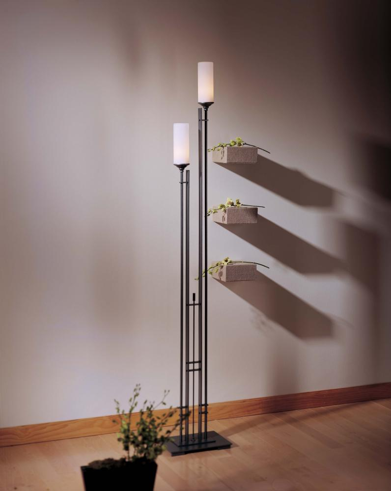 Main Line Lighting & Design in Paoli, Pennsylvania, United States, Hubbardton Forge 248416-SKT-07-GG0073, Metra Twin Tall Floor Lamp, Metra