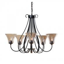 Hubbardton Forge 101454-SKT-03-LL0022 - Sweeping Taper 5 Arm Chandelier