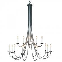 Hubbardton Forge 191043-SKT-84 - Simple Sweep 15 Arm Chandelier