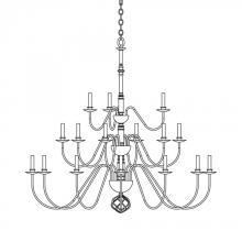 Hubbardton Forge 191548-SKT-84 - Ball Basket 21 Arm Chandelier
