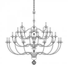 Hubbardton Forge 191560-SKT-84 - Ball Basket 36 Arm Chandelier