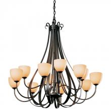 Hubbardton Forge 192148-SKT-84-GG0001 - Sweeping Taper 12 Arm Chandelier
