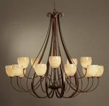 Hubbardton Forge 192166-SKT-03-GG0103 - Sweeping Taper 15 Arm Chandelier
