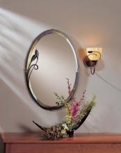 Hubbardton Forge 710014-08 - Beveled Oval Mirror with Leaf