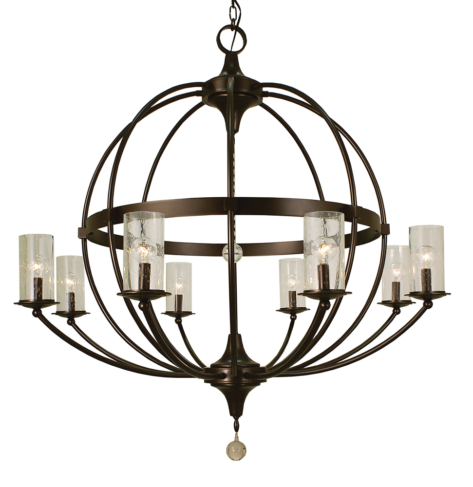 8 light brushed nickel compass foyer chandelier 1078 bn main 8 light brushed nickel compass foyer chandelier arubaitofo Gallery