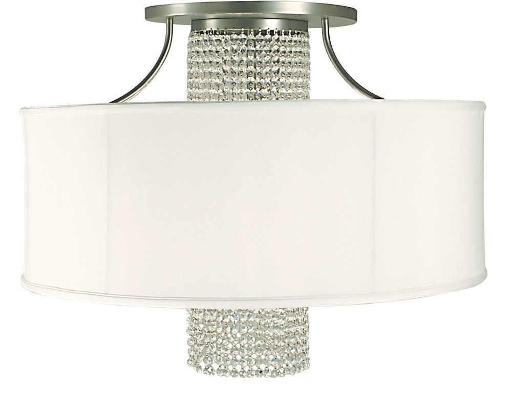 4-Light Polished Silver Angelique Flush / Semi-Flush Mount