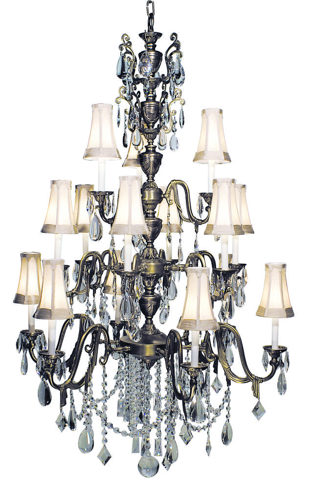 15-Light Harvest Bronze Czarina Foyer Chandelier