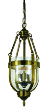 Framburg 1013 AB - 3-Light Antique Brass Hannover Mini-Chandelier