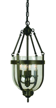 Framburg 1014 BN - 4-Light Brushed Nickel Hannover Mini-Chandelier