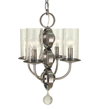 Framburg 1043 BN - 4-Light Brushed Nickel Compass Mini Chandelier