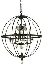 Framburg 1070 PN - 9-LIGHT POLISHED NICKEL COMPASS CHANDELIER