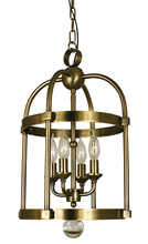 Framburg 1103 BB - 4-Light Brushed Bronze Compass Mini Chandelier