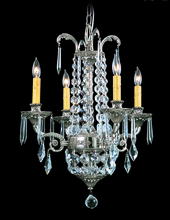 Framburg 1144 PS - 4-Light Polished Silver Czarina Mini Chandelier