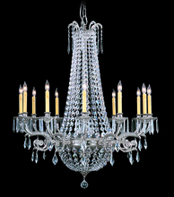 Framburg 1152 PS - 12-Light Polished Silver Czarina Foyer Chandelier