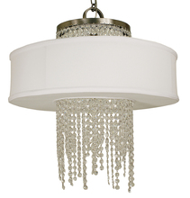Framburg 1206 BN - 4-Light Brushed Nickel Angelique Dining Chandelier