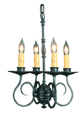 Framburg 1314 SBR - 4-Light Siena Bronze Black Forest Mini Chandelier