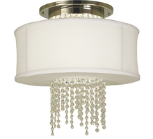 Framburg 1680 PN - 1-Light Polished Nickel Angelique LED Flush / Semi-Flush Mount