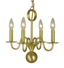 Framburg 2244 GS - 4-Light German Silver Jamestown Mini Chandelier