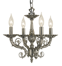 Framburg 2874 AS - 4-Light Antique Silver Napoleonic Mini Chandelier