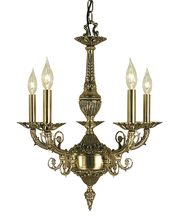 Framburg 2875 AS - 5-Light Antique Silver Napoleonic Dining Chandelier