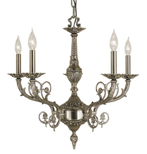 Framburg 2877 AS - 5-Light Antique Silver Napoleonic Dining Chandelier
