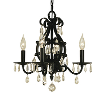Framburg 2984 MB - 4-Light Mahogany Bronze Liebestraum Mini Chandelier