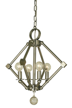 Framburg 4384 BN - 4-Light Brushed Nickel Diamond Chandelier