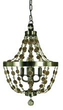 Framburg 4484 BN - 4-Light Brushed Nickel Naomi Chandelier