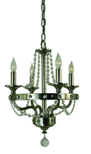 Framburg 4504 PN - 4-Light Polished Nickel Isolde Mini Chandelier