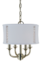 Framburg 4644 PN - 4-Light Polished Nickel Michele Chandelier
