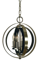 Framburg 4650 PN/MBLACK - 4-Lt.Polished Nickel/Matte Black Constellation Pendant
